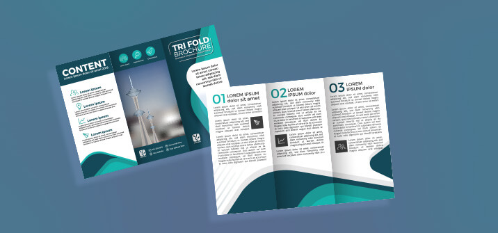 Enquiry type brochures design