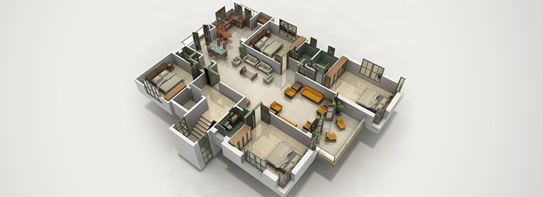 3D floor plan walkthrough