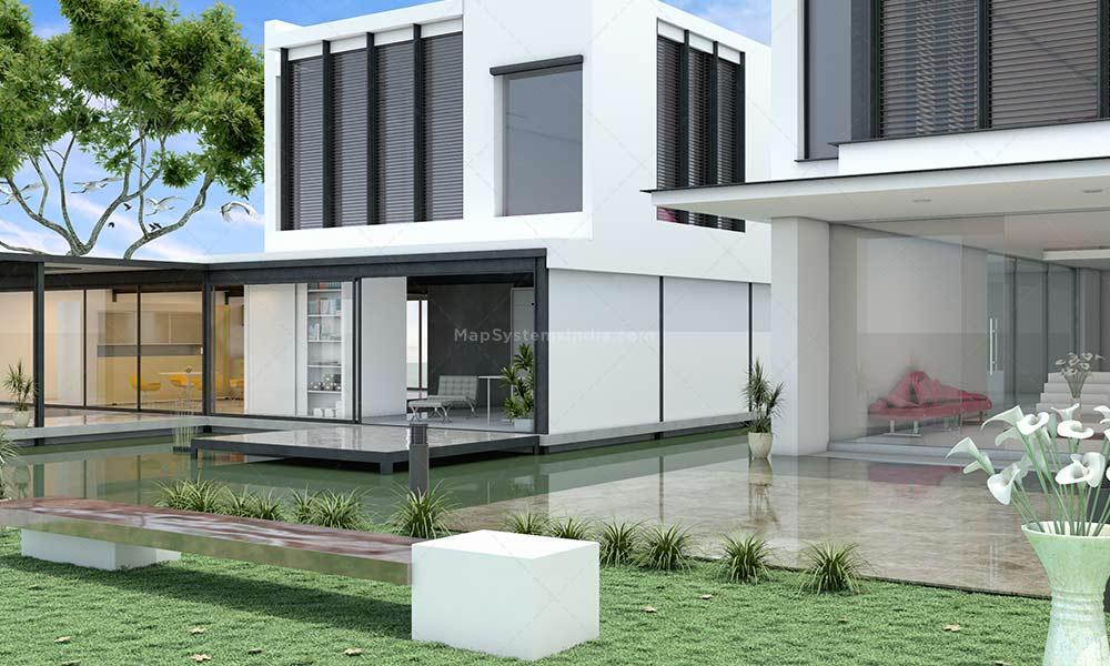 3d exterior house