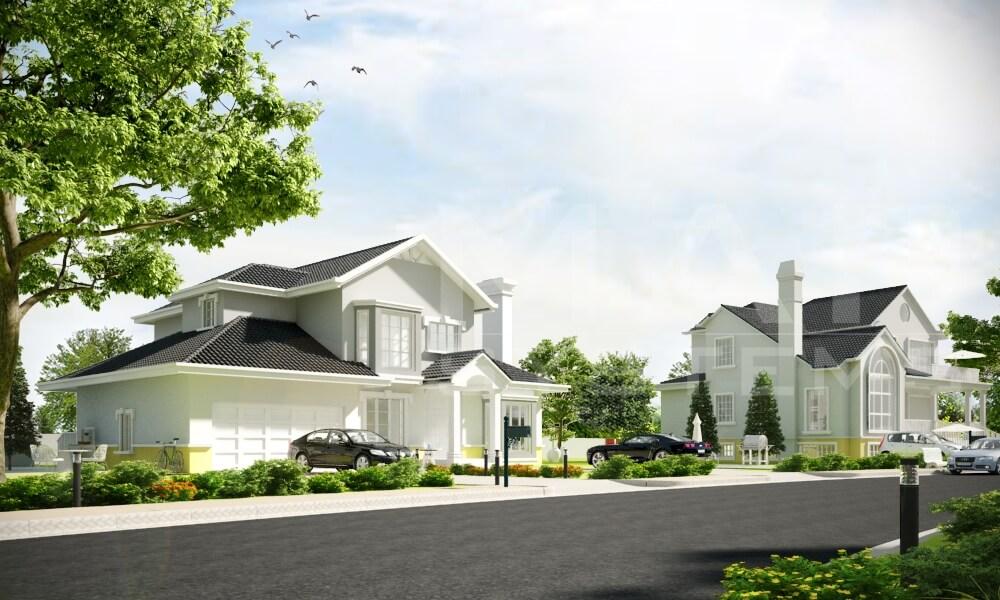 exterior villa 3d