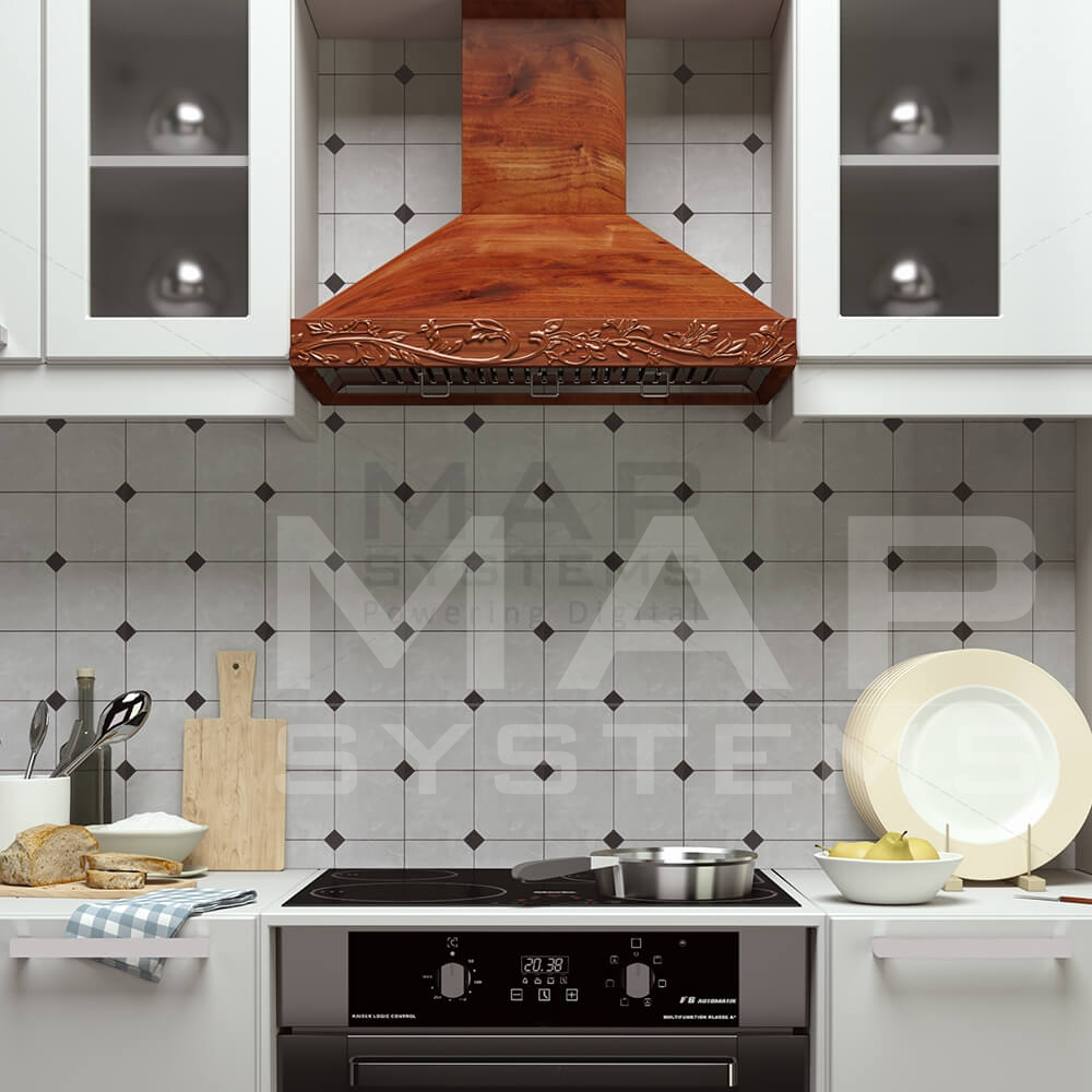 3d product design wall mounted hood