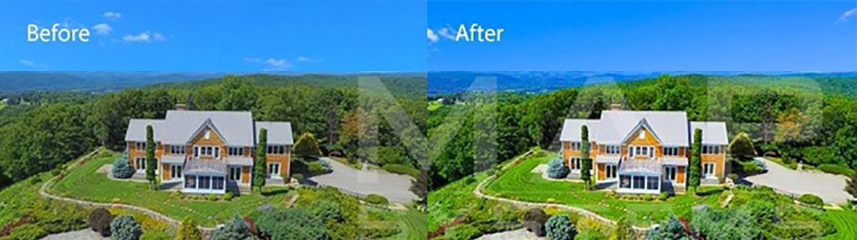 aerial photo editing