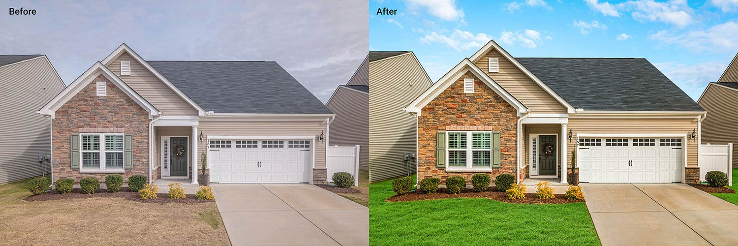 house exterior image sky replacement