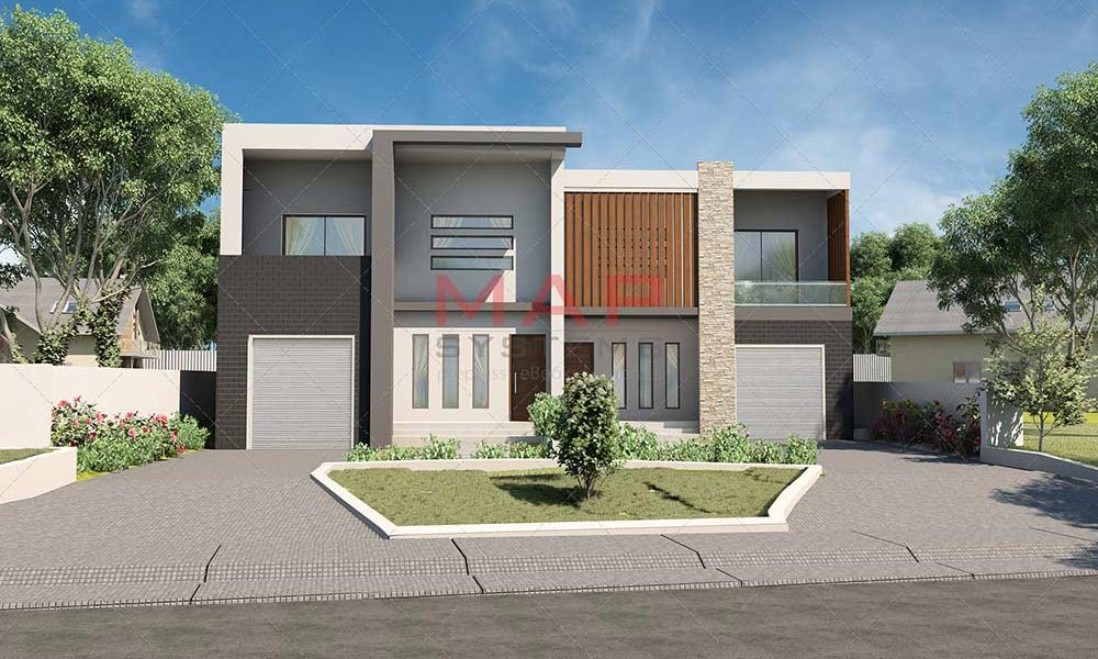 exterior 3d render house image