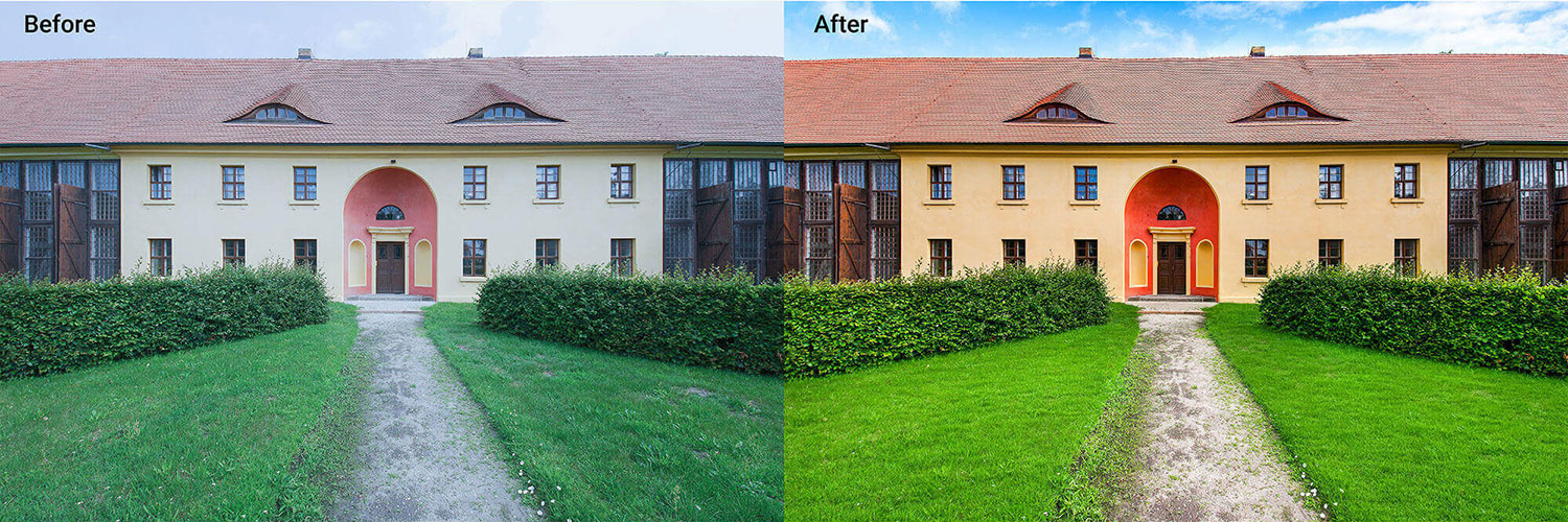exterior house sky replacement