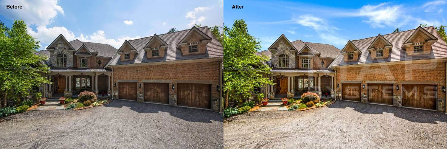 real estate sky replacement effect