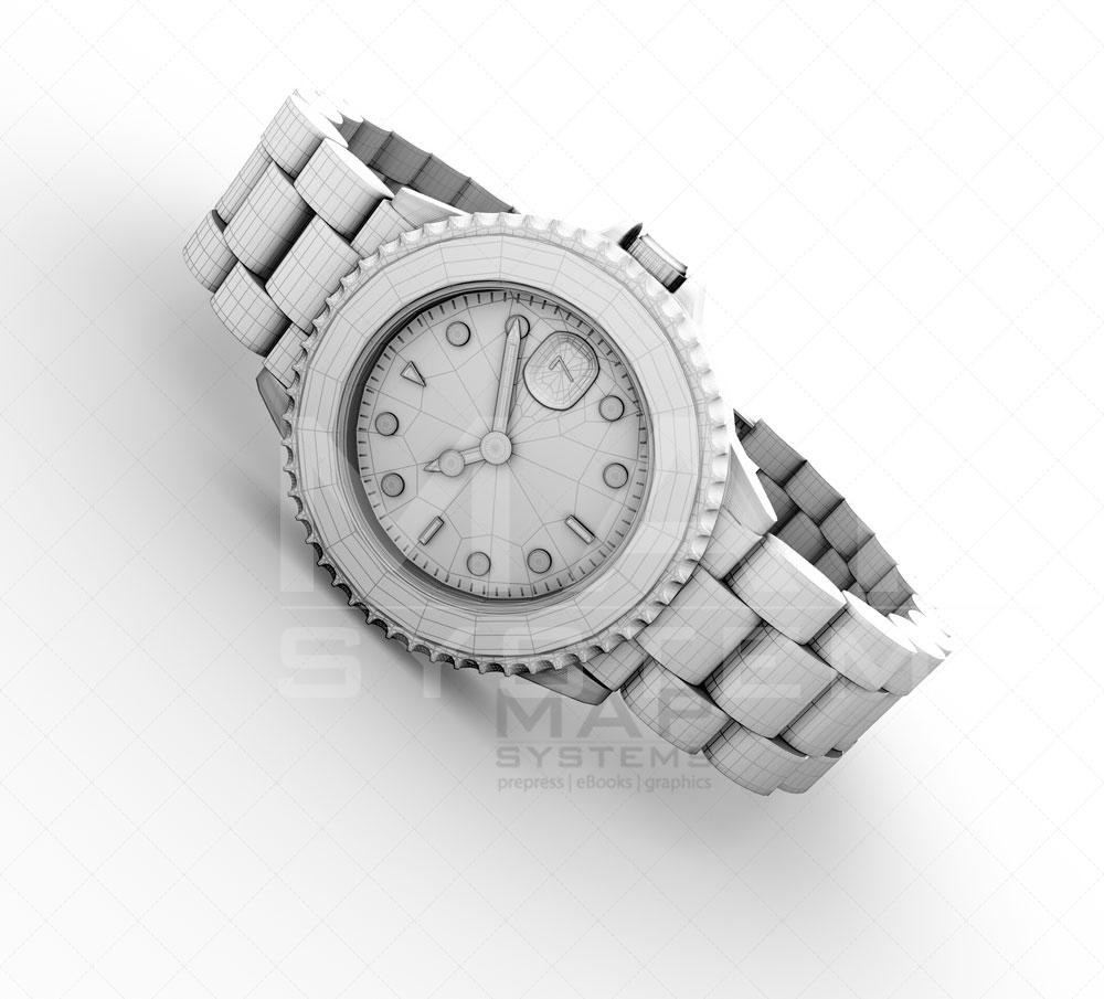 watch 3d render image