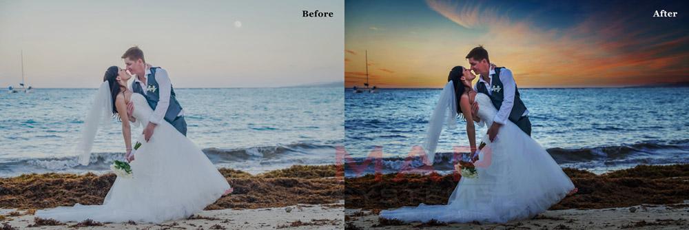 wedding photo post processing