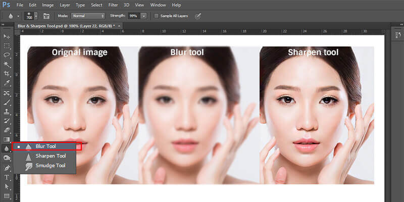 how to sharpen blurred images