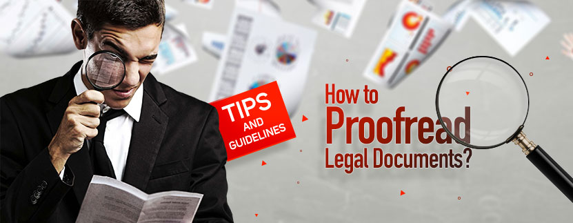 Law document proofreading tips